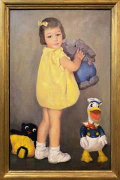 Portrait of a Girl with Donald Duck