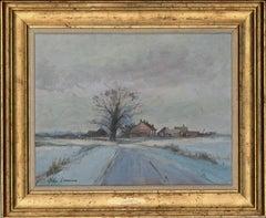 John Lawrence (b.1934) - Signed 20th Century Oil, Rural Winter Landscape