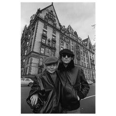 John Lennon and Yoko Ono in Front of the Dakota, NYC, 1980, Allan Tannenbaum