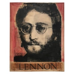 John Lennon Painted Canvas