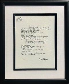 """Borrowed Time"" Limited Edition Hand Written Lyrics"