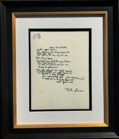 """Day Tripper"" Limited Edition Hand Written Lyrics"