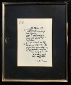 """Dear Prudence"" Limited Edition Hand Written Lyrics"