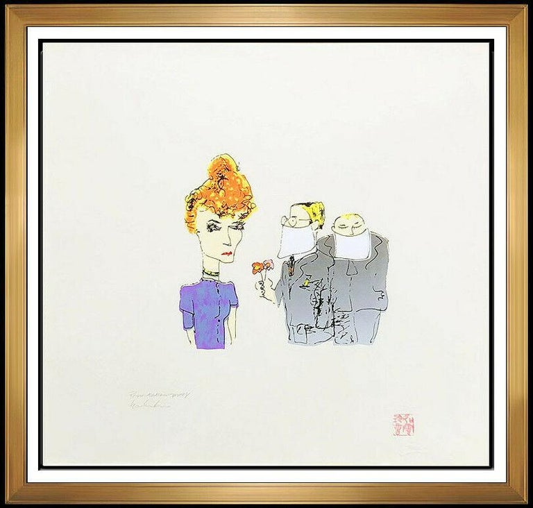 John Lennon John Lennon Color Serigraph Signed Yoko Ono The Beatles Bag 1 Suitors Framed Art For Sale At 1stdibs