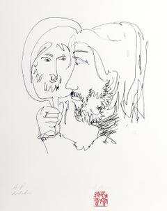 Mirror, Lithograph by John Lennon