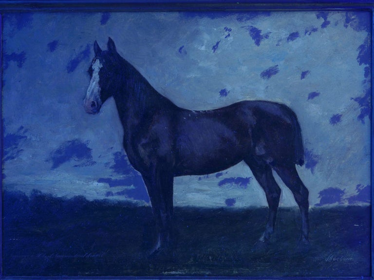 John Lewis Shonborn (American, 1852-1931) Equestrian Thoroughbred Oil Painting For Sale 9