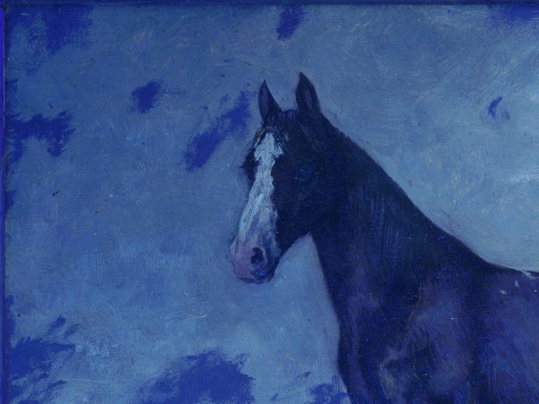 John Lewis Shonborn (American, 1852-1931) Equestrian Thoroughbred Oil Painting For Sale 10
