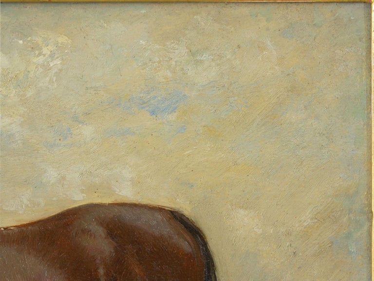John Lewis Shonborn (American, 1852-1931) Equestrian Thoroughbred Oil Painting For Sale 2