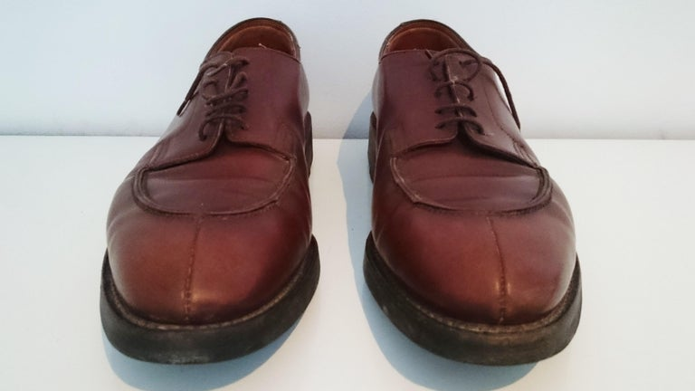 John Lobb Brown Leather Laced Up Shoes.  Great conditions.  Size 7.5 (UK) Made in Great Britain