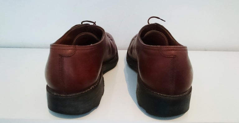 John Lobb Leather Brown  Laced Up Shoes. Great conditions. Size 7.5 (UK) In Excellent Condition For Sale In Somo (Santander), ES
