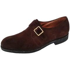 John Lobb Suede Men One-Strap Shoes. Excellent conditions. Size