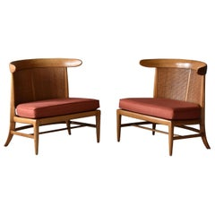 John Lubberts & Lambert Mulder for Tomlinson, Slipper Chairs, Cane, Walnut, 1950