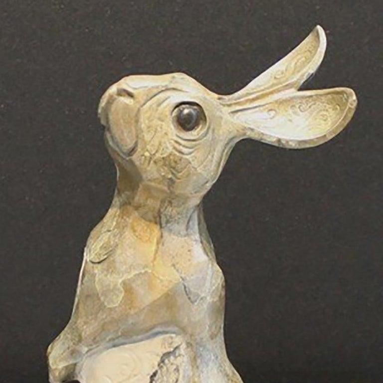 Daisy - Gold Figurative Sculpture by John Maisano
