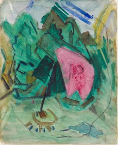 Small Point, Maine, 1922 ( Abstract Modernist Landscape)