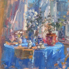 Studio Table - abstract still life painting contemporary modern art