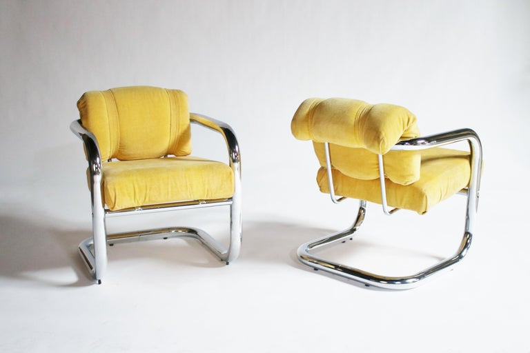 John Mascheroni Tubular Chrome Chairs In Good Condition In Chicago, IL