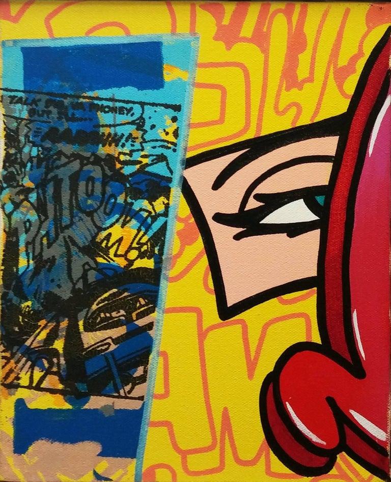 YOU PHONEY - Mixed Media Art by John Crash Matos