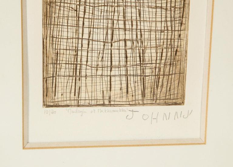 Australian John Mawurndjul 'Mardayin at Mukkamukka', Aboriginal Contemporary Etching For Sale