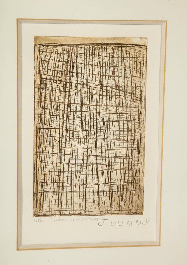 Paper John Mawurndjul 'Mardayin at Mukkamukka', Aboriginal Contemporary Etching For Sale