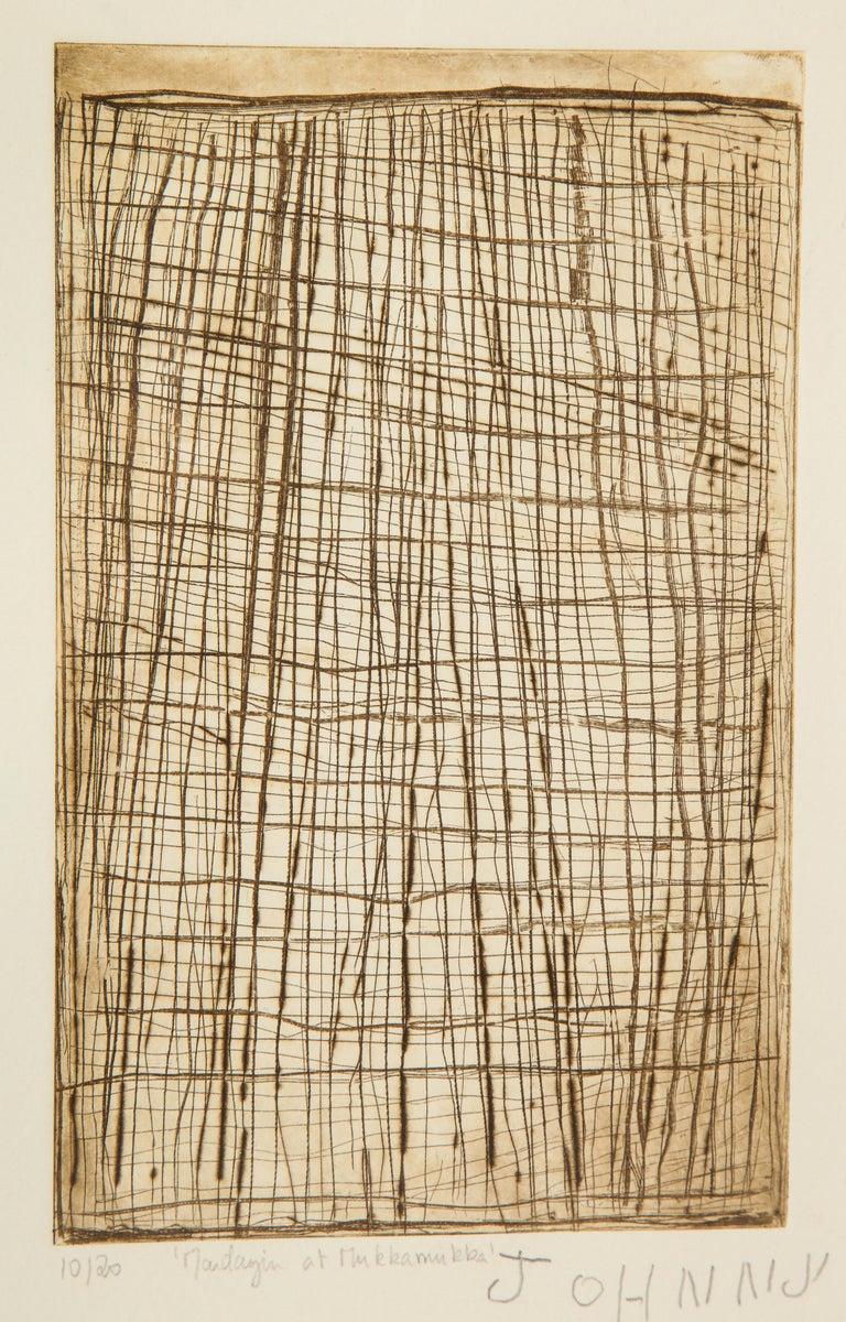 John Mawurndjul 'Mardayin at Mukkamukka', Aboriginal Contemporary Etching For Sale 1
