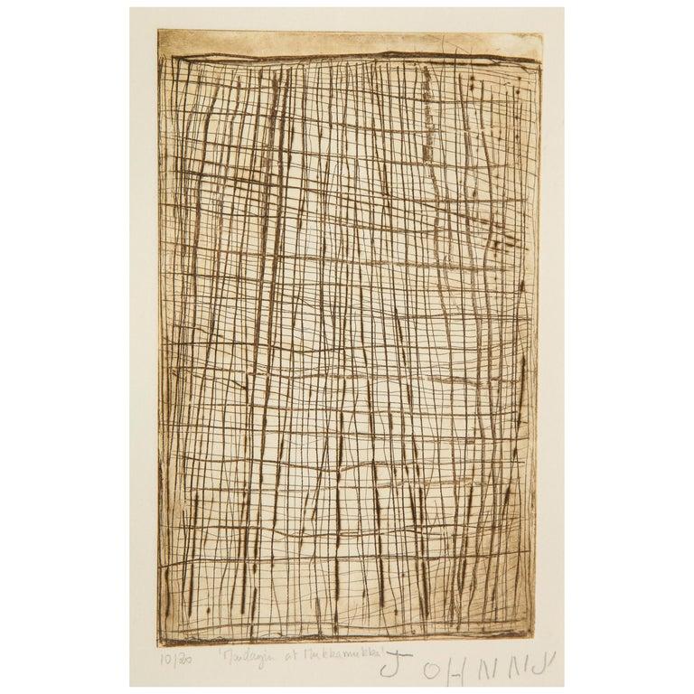 John Mawurndjul 'Mardayin at Mukkamukka', Aboriginal Contemporary Etching For Sale