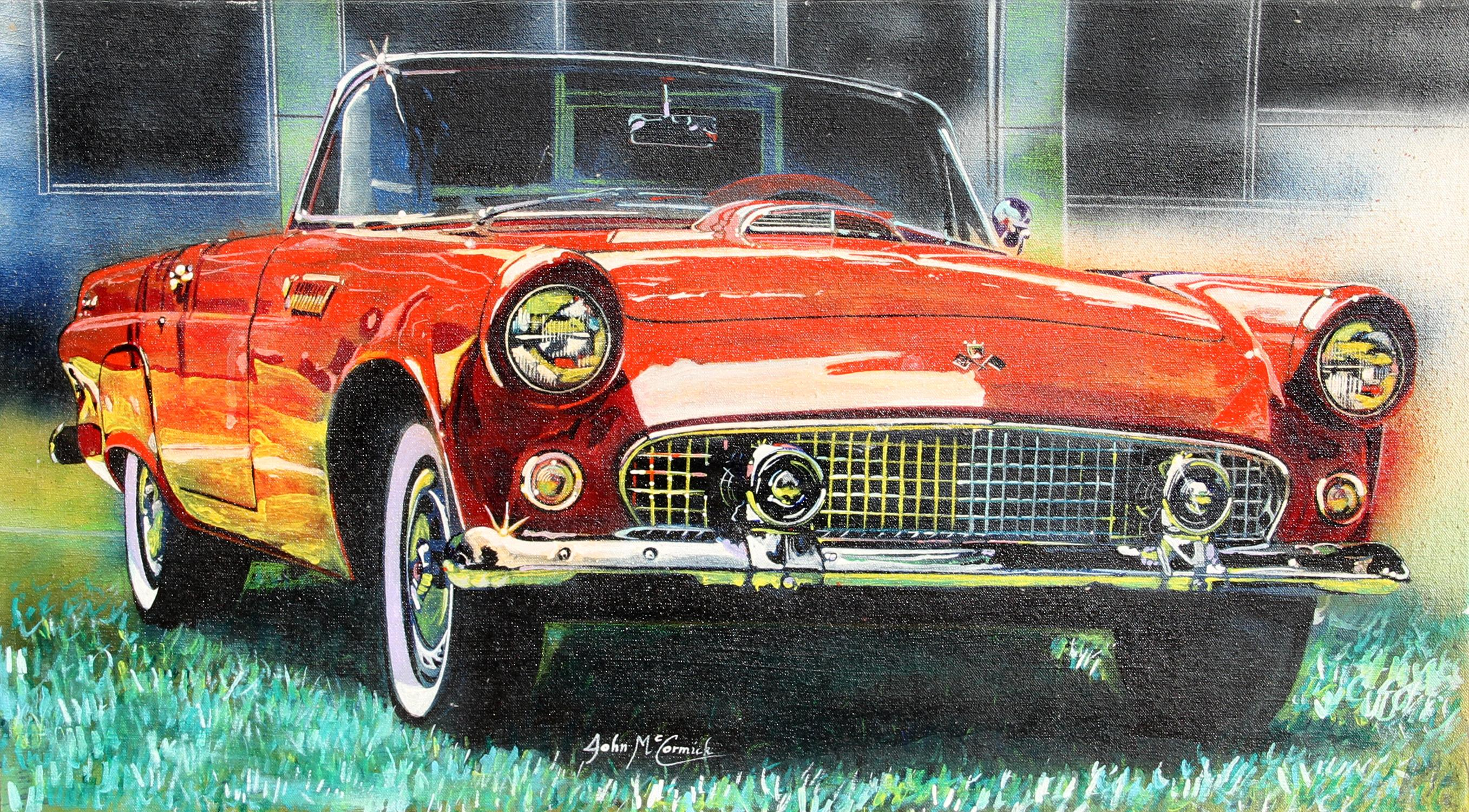 1956 Ford Thunderbird, Oil Painting by John McCormick