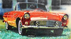 1956 Ford Thunderbird, Oil Painting by John McCormick