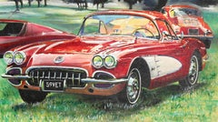 1959 Corvette, Oil Painting by John McCormick