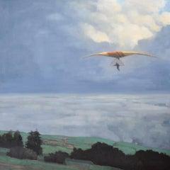 "John McCormick, ""In Flight"", 2016, oil on linen, 48"" x 48"""