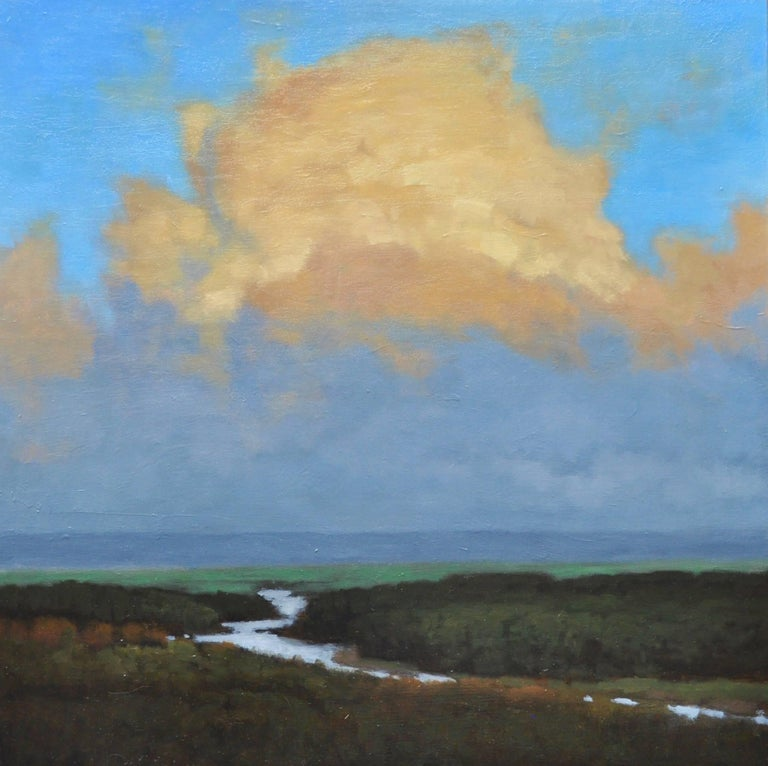 "John McCormick, ""Valley, Late Day"", 2017, oil on panel, 24"" x 24"" - Painting by John McCormick"