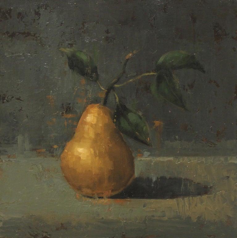 "John McCormick, ""Winter Pear,"" 2017,  oil on panel, 12"" x 12"" - Painting by John McCormick"