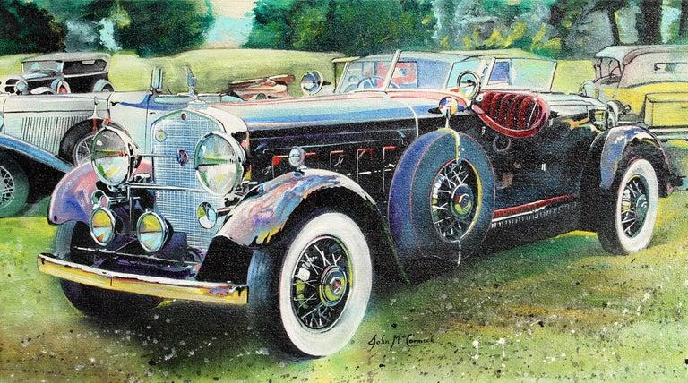 Artist: John McCormick, American Title: Rolls Royce Year: 1983 Medium: Oil on Canvas Size: 18 in. x 32 in. (45.72 cm x 81.28 cm)