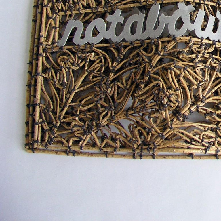 Book of Larceny by John McQueen, Sculpture Made of Sticks & String For Sale 1