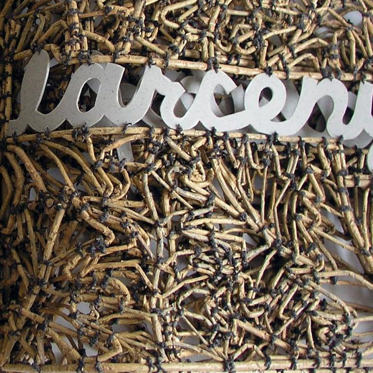 Book of Larceny by John McQueen, Sculpture Made of Sticks & String For Sale 2