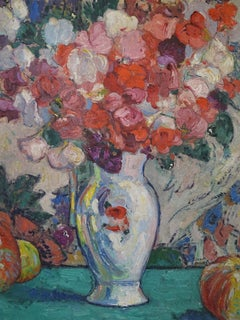 Post-Impressionist Still Life 20th Century John Michaux Oil on Panel