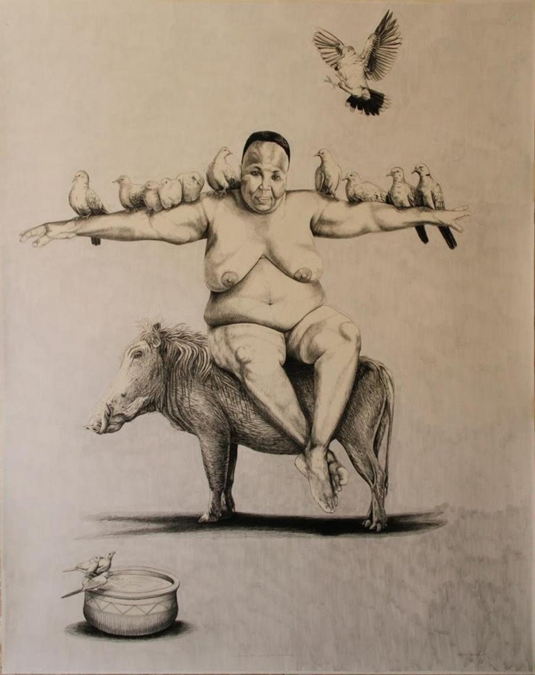 The Gathering - Contemporary, Mixed Media on Fabriano Paper, 21st Century - Mixed Media Art by John Moore