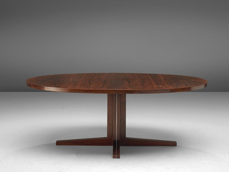 Mid-20th Century John Mortensen 'HM55' Extendable Dining Table in Rosewood For Sale