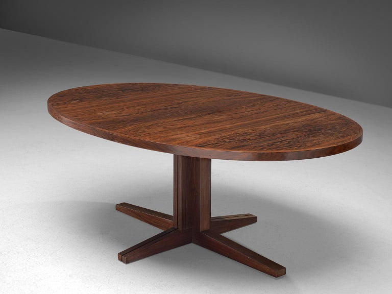 John Mortensen 'HM55' Extendable Dining Table in Rosewood For Sale 1