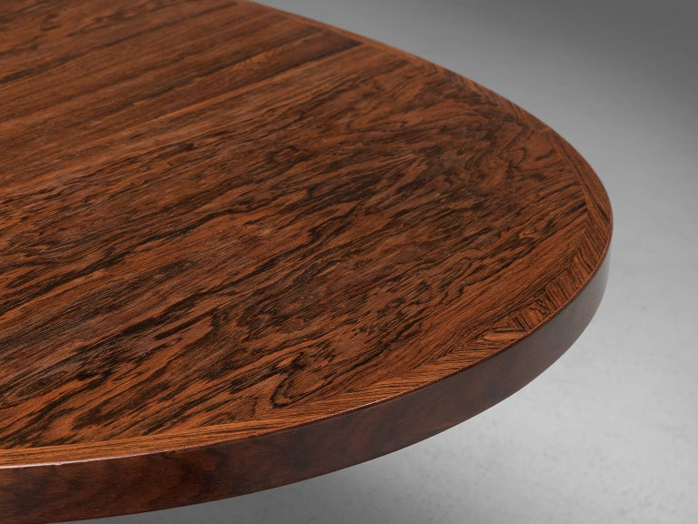 John Mortensen 'HM55' Extendable Dining Table in Rosewood For Sale 2