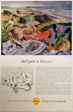 John Nash Shell Guide to Dorset poster Modern British Art