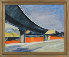 Expressionist California Freeway Scene 2011 Oil Painting