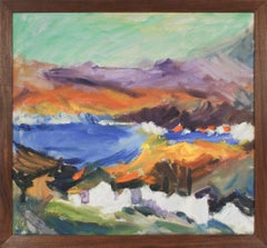 Expressionist California Lake Scene 2002 Oil Painting