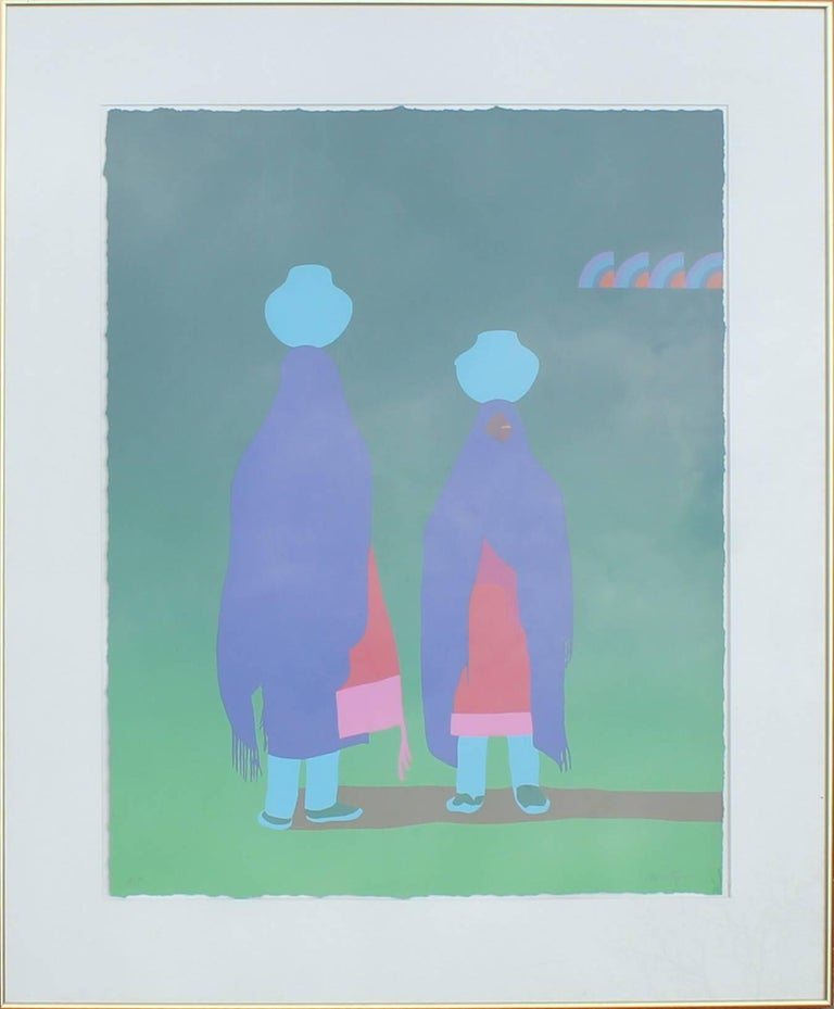 Early Artist Proof Print of Two Women Carrying Water
