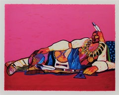 """Ponca Chief"" large original color serigraph"
