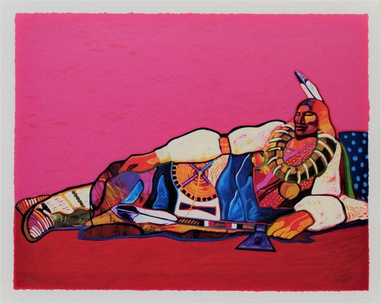 "John Nieto Print -  ""Ponca Chief"" large original color serigraph"