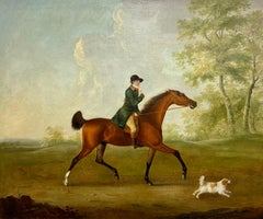'The Huntsman' - A huntsman on horseback in a landscape