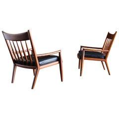 John Nyquist Handcrafted Walnut Lounge Chairs, circa 1970