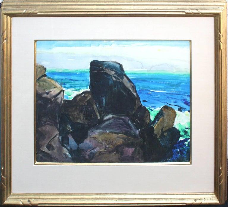 """Big Sur Coast """"Coastal Scene"""" 1920s John O'Shea and Friends Show 1993 - Painting by John O'Shea"""
