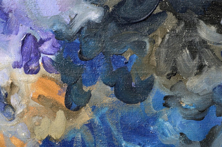 Vibrant and emotive abstract composition by John Thomson (American, b. 1941). Signed