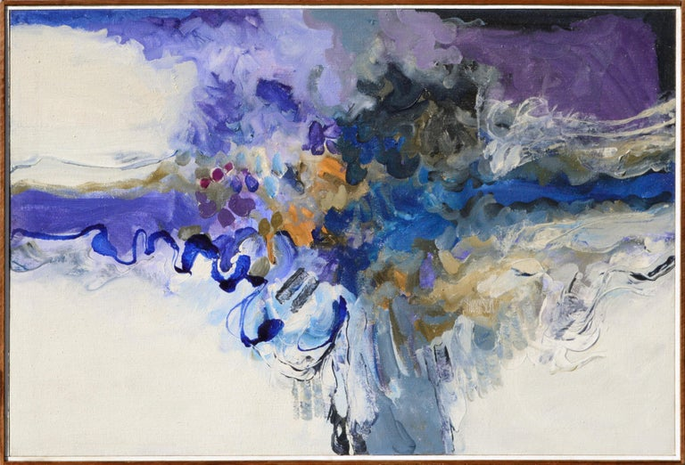 """John O. Thomson Abstract Painting - """"Lata-To-Do"""" Abstract Expressionist Composition"""